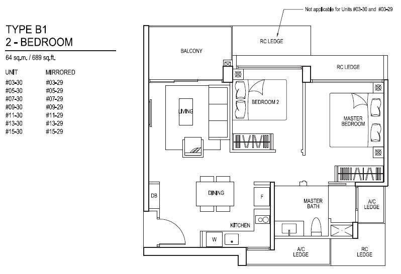 Floor plans for inz residence ec choa chu kang mrt station for X2 residency floor plan