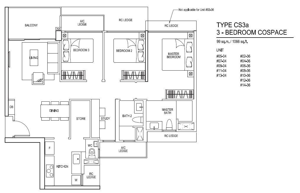 iNz Residence EC 3 Bedroom Cospace