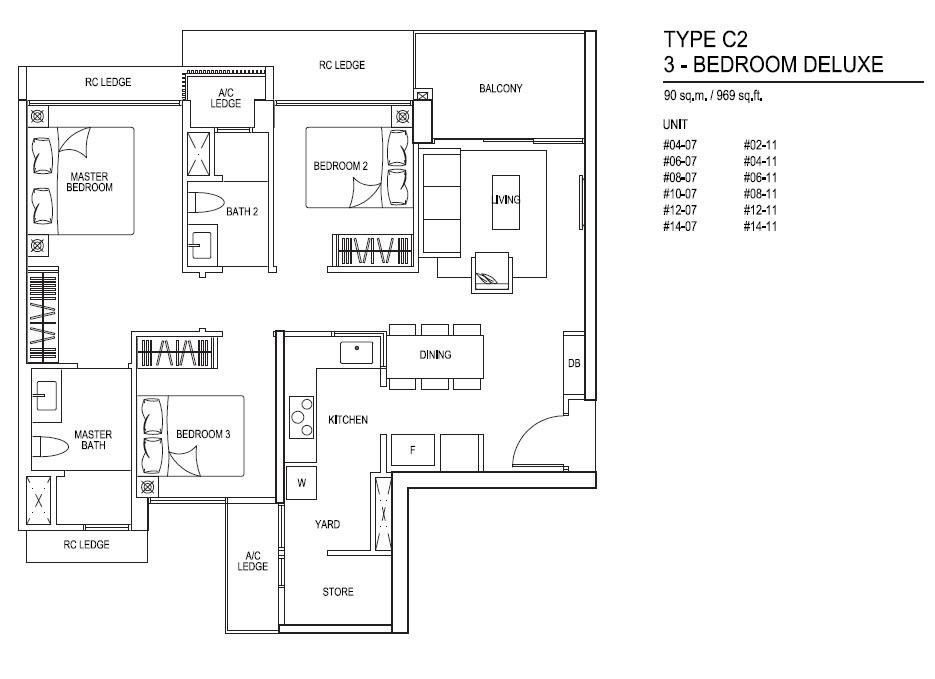 iNz Residence EC 3 Bedroom Deluxe