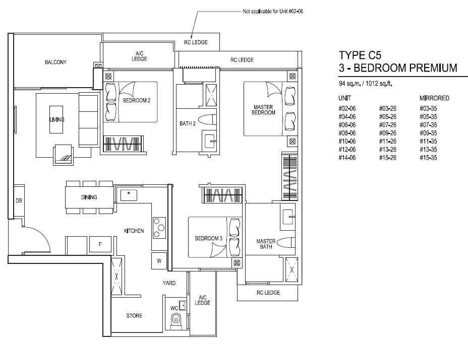iNz Residence EC 3Bedroom Premium