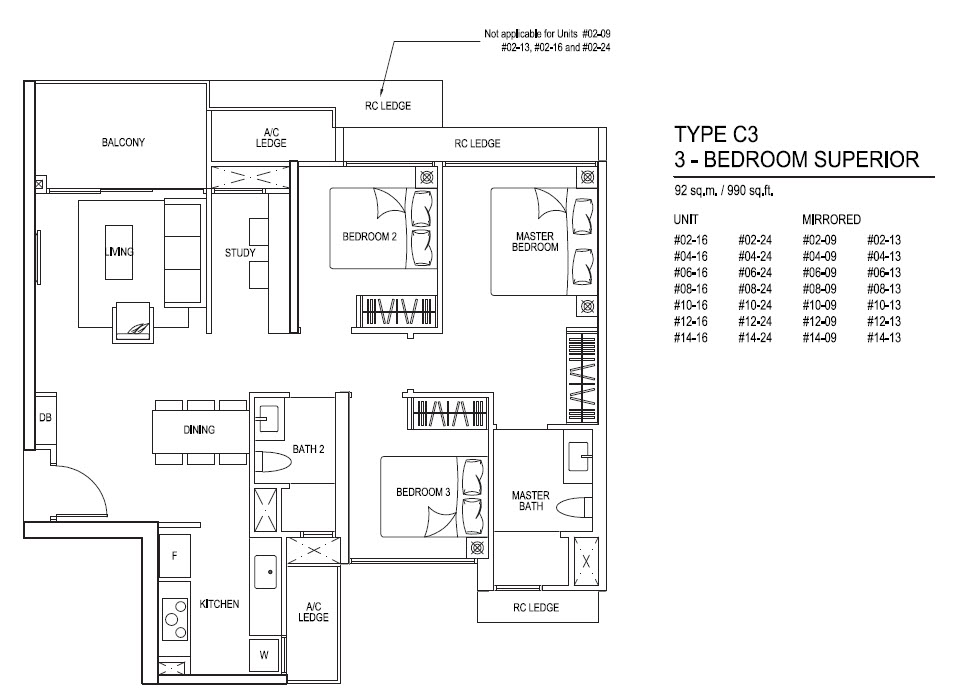 iNz Residence EC 3 Bedroom Superior