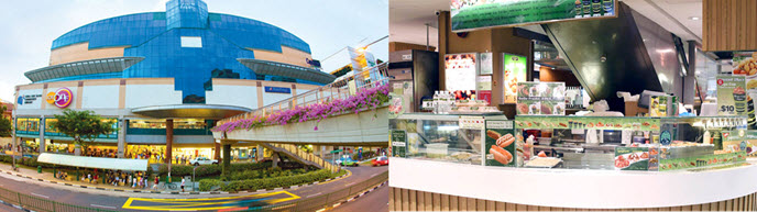Lot One Shopping Centre near Choa Chu Kang MRT Station